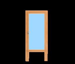 Rahmentüren für Aussenanwendung 1-flügelig