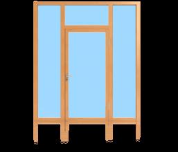 Rahmentüren im Glaswandsystem für Innenanwendung 1-flügelig
