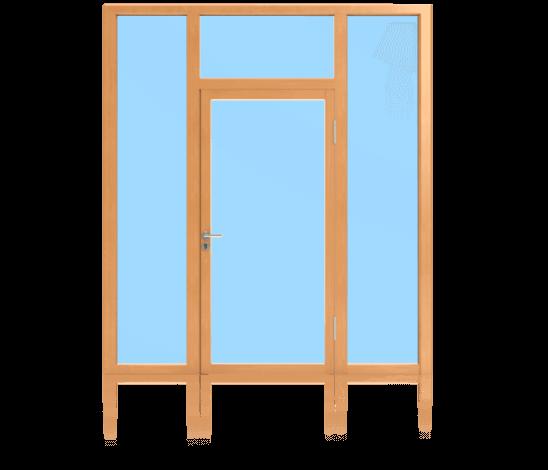 Rahmentüren im Glaswandsystem für Aussenanwendung 1-flügelig