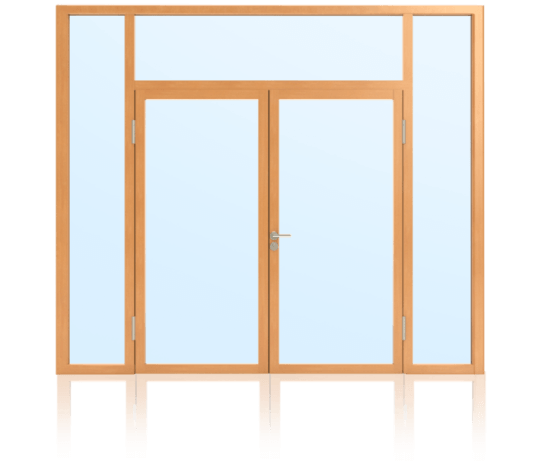 Rahmentüren im Glaswandsystem für Innenanwendung 2-flügelig