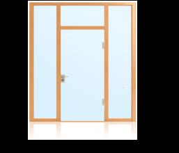 Ganzglastüren im Glaswandsystem für Innenanwendung 1-flügelig