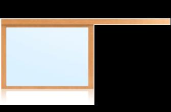 Schiebefenster verglast 1-flügelig