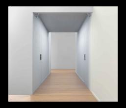 Sperr-/Pendel-Nischentüren für Innenanwendung 2-flügelig