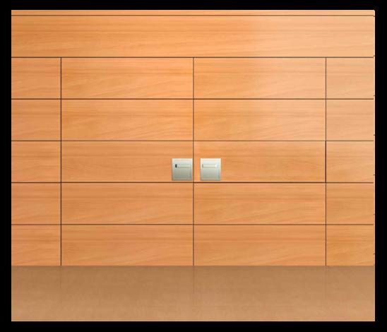 Sperr-Turnhallentüren für Innen- u. Aussenanwendung 2-flügelig